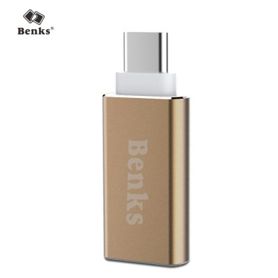 Benks USB 3.0 to Type-C AdapteriPhone Cables &amp; Adapters<br>Benks USB 3.0 to Type-C Adapter<br><br>Brand: Benks<br>Color: Gold,Silver<br>Interface Type: USB Type-C, USB 3.0<br>Material ( Cable&amp;Adapter): Metal<br>Package Contents: 1 x USB 3.0 to Type-C Adapter<br>Package size (L x W x H): 13.50 x 8.50 x 2.00 cm / 5.31 x 3.35 x 0.79 inches<br>Package weight: 0.040 kg<br>Product Size(L x W x H): 3.80 x 1.60 x 0.60 cm / 1.5 x 0.63 x 0.24 inches<br>Product weight: 0.004 kg<br>Type: Adapter