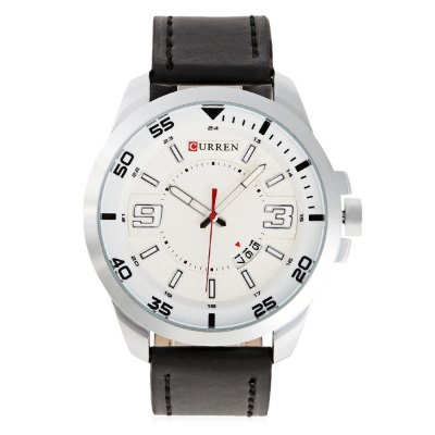 CURREN 8213 Casual Date Display Men Quartz WatchMens Watches<br>CURREN 8213 Casual Date Display Men Quartz Watch<br><br>Band material: Leather<br>Band size: 25.8 x 2.2 cm / 10.16 x 0.87 inches<br>Brand: Curren<br>Case material: Alloy<br>Clasp type: Pin buckle<br>Dial size: 4.6 x 4.6 x 1.2 cm / 1.81 x 1.81 x 0.47 inches<br>Display type: Analog<br>Movement type: Quartz watch<br>Package Contents: 1 x CURREN 8213 Casual Men Quartz Watch<br>Package size (L x W x H): 26.80 x 5.60 x 2.20 cm / 10.55 x 2.2 x 0.87 inches<br>Package weight: 0.1020 kg<br>Product size (L x W x H): 25.80 x 4.60 x 1.20 cm / 10.16 x 1.81 x 0.47 inches<br>Product weight: 0.0680 kg<br>Shape of the dial: Round<br>Special features: Date<br>Watch color: White, Gold, Black + Brown, Silver + Brown<br>Watch style: Casual<br>Watches categories: Male table<br>Water resistance : Life water resistant<br>Wearable length: 19 - 23.4 cm / 7.48 - 9.21 inches