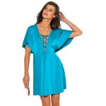 V-neck Lace-up Front Flounced Mini Dress for sale