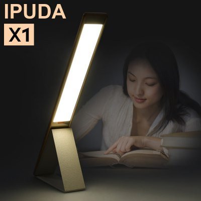 IPUDA X1 Eye-protective LED Desk LampTable Lamps<br>IPUDA X1 Eye-protective LED Desk Lamp<br><br>Available Color: Black,Gold,Pink,Silver<br>Battery: 1500mAh Li-polymer battery<br>Brand: IPUDA<br>CCT: 4200K<br>Features: Touch Sensitive, Rechargeable, Foldable<br>Input Voltage: DC 5V 750mAh<br>Luminance: 6.5-150Lm<br>Material: ABS, Aluminum Alloy<br>Package Contents: 1 x IPUDA X1 LED Desk Lamp, 1 x USB Cable, 1 x English Manual<br>Package size (L x W x H): 43.00 x 9.00 x 6.00 cm / 16.93 x 3.54 x 2.36 inches<br>Package weight: 0.690 kg<br>Power: 6.25W<br>Powered Source: Battery,USB<br>Product size (L x W x H): 40.00 x 5.20 x 0.90 cm / 15.75 x 2.05 x 0.35 inches<br>Product weight: 0.243 kg<br>Suitable for: Office, Home use