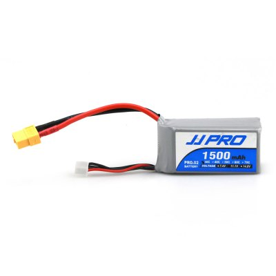 Original JJRC XT60 Plug 11.1V 3S 1500mAh 30C BatteryBattery<br>Original JJRC XT60 Plug 11.1V 3S 1500mAh 30C Battery<br><br>Battery Coulomb: 30C<br>Battery Voltage: 3S<br>Brand: JJRC<br>Charging Time.: 30mins<br>Flying Time: 10-13mins<br>Package Contents: 1 x 11.1V 1500mAh Battery, 1 x Strap, 1 x Bag, 1 x Double-side Adhesive<br>Package size (L x W x H): 12.00 x 6.00 x 5.00 cm / 4.72 x 2.36 x 1.97 inches<br>Package weight: 0.163 kg<br>Plug Type: XT60<br>Product size (L x W x H): 11.00 x 3.50 x 3.00 cm / 4.33 x 1.38 x 1.18 inches<br>Type: Battery