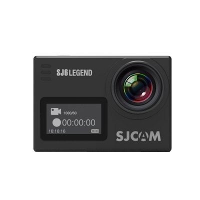 Original SJCAM SJ6 LEGEND 4K WiFi Action CameraAction Cameras<br>Original SJCAM SJ6 LEGEND 4K WiFi Action Camera<br><br>Brand: SJCAM<br>Model: SJ6 LEGEND<br>Type: Sports Camera<br>Type of Camera: 4K<br>Chipset Name: Novatek<br>Chipset: Novatek 96660<br>Sensor: CMOS<br>Max External Card Supported: Micro SD 128G (not included)<br>Screen size: 2.0inch<br>Screen type: LTPS<br>Screen resolution: 320x240<br>Battery Type: Removable<br>Capacity: 1000mAh<br>Power Supply: 5V 1A<br>Charge way: AC adapter,Car charger,USB charge by PC<br>Working Time: 110 minutes<br>Standby time: About 3 months<br>Charging time: About 3H<br>Wide Angle: 166 degree wide angle lens<br>Lens Diameter: 17.5mm<br>Decode Format: H.264<br>Video format: MOV,MP4<br>Video Resolution: 1080P(30fps),1080P(60fps),2K (30fps),4K (24fps),720P (120fps),720P (30fps),720P (60fps),VGA (240fps)<br>Video Frame Rate: 120fps,25fps,30FPS,60FPS<br>Image Format : JPEG<br>Audio System: Built-in microphone/speaker (AAC)<br>Microphone: Built-in<br>WIFI: Yes<br>WiFi Distance : Within 10M<br>Waterproof: Yes<br>Waterproof Rating : IP68<br>Night vision : No<br>G-sensor: Yes<br>Camera Timer: Yes<br>Time lapse: No<br>Auto Focusing: No<br>Anti-shake: Yes<br>Aerial Photography: Yes<br>Language: Czech,Danish,English,French,German,Hungarian,Italian,Japanese,Korean,Polski,Portuguese,Russian,Simplified Chinese,Slovak,Spanish,Traditional Chinese<br>Frequency: 50Hz,60Hz<br>Product weight: 0.082 kg<br>Package weight: 0.700 kg<br>Product size (L x W x H): 5.90 x 4.10 x 2.11 cm / 2.32 x 1.61 x 0.83 inches<br>Package size (L x W x H): 27.00 x 14.90 x 8.30 cm / 10.63 x 5.87 x 3.27 inches<br>Package Contents: 1 x Action Camera, 1 x Waterproof Housing + Screw + Mount, 1 x Battery, 1 x Frame, 1 x Protective Backdoor, 2 x Helmet Mount, 2 x Adhesive, 3 x Connector + Screw, 1 x Bicycle Handle Bar Mount, 2 x Bas