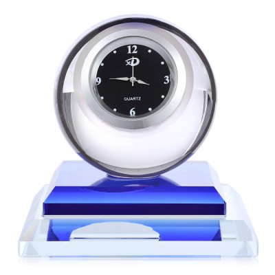 Crystal Perfume Seat for Car with Clock