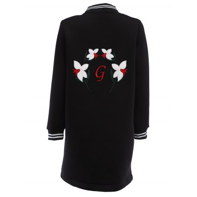 Floral Embroidered Jacket for WomenJackets &amp; Coats<br>Floral Embroidered Jacket for Women<br><br>Material: Cotton, Spandex<br>Package Contents: 1 x Women Jacket<br>Package size: 30.00 x 20.00 x 2.00 cm / 11.81 x 7.87 x 0.79 inches<br>Package weight: 0.580 kg<br>Product weight: 0.550 kg<br>Size: L,M,XL