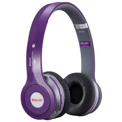 Haoer S450 Bluetooth V4.1 Over-ear Purple HeadphonesOn-ear &amp; Over-ear Headphones<br>Haoer S450 Bluetooth V4.1 Over-ear Purple Headphones<br><br>Application: Mobile phone, Computer<br>Battery Capacity(mAh): 300mAh<br>Battery Types: Built-in<br>Bluetooth: Yes<br>Bluetooth chip: CSR<br>Bluetooth distance: W/O obstacles 10m<br>Bluetooth protocol: A2DP,AVRCP,HFP,HSP<br>Bluetooth Version: V4.1<br>Charging Time.: 1.5 hours<br>Color: Black,Purple,Red,White<br>Compatible with: Computer<br>Connecting interface: 3.5mm<br>Connectivity: Wireless<br>External Memory: TF card<br>FM radio: Yes<br>Function: MP3 player, Bluetooth, Answering Phone, Voice control, Noise Cancelling, FM function, Microphone<br>Impedance: 32ohms<br>Max. of External memory: 32GB<br>Music Time: 6 hours<br>Package Contents: 1 x Headsets, 1 x Cable, 1 x Audio Cable, 1 x User Manual ( English and Chinese )<br>Package size (L x W x H): 23.75 x 21.15 x 7.45 cm / 9.35 x 8.33 x 2.93 inches<br>Package weight: 0.6630 kg<br>Plug Type: 3.5mm<br>Product size (L x W x H): 16.65 x 6.20 x 17.85 cm / 6.56 x 2.44 x 7.03 inches<br>Product weight: 0.2040 kg<br>Sensitivity: 115 dB ± 3dB<br>SNR: 94dB<br>Standby time: 6 hours<br>Talk time: 6 hours
