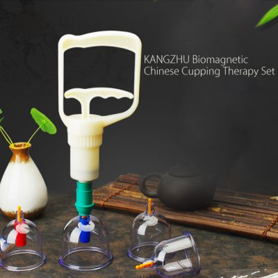 KANGZHU Biomagnetic Chinese Cupping Therapy SetMassage &amp; Relaxation<br>KANGZHU Biomagnetic Chinese Cupping Therapy Set<br><br>Package Contents: 12 x Cupping Jar, 1 x Suction Pump, 1 x Disk, 1 x Chinese / English User Manual, 1 x Cupping Therapy Instruction<br>Package size (L x W x H): 30.30 x 19.80 x 9.20 cm / 11.93 x 7.8 x 3.62 inches<br>Package weight: 0.610 kg<br>Product size (L x W x H): 6.70 x 6.70 x 8.00 cm / 2.64 x 2.64 x 3.15 inches