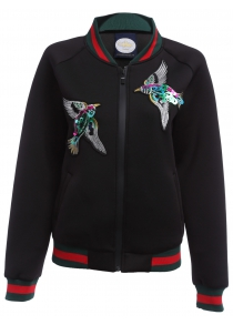 Full Zip Embroidered Jacket for Women