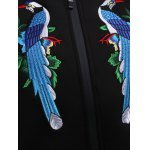Hidden Zip Embroidered Jacket for Women for sale