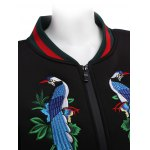 Hidden Zip Embroidered Jacket for Women deal