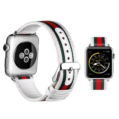 Leisure PU Leather Watchband for Apple Watch 38mmApple Watch Bands<br>Leisure PU Leather Watchband for Apple Watch 38mm<br><br>Color: Black,White<br>Function: for Apple Watch 38mm<br>Material: PU Leather<br>Package Contents: 1 x Watchband<br>Package size: 25.50 x 7.00 x 3.50 cm / 10.04 x 2.76 x 1.38 inches<br>Package weight: 0.123 kg<br>Product size: 20.00 x 3.20 x 0.30 cm / 7.87 x 1.26 x 0.12 inches<br>Product weight: 0.014 kg
