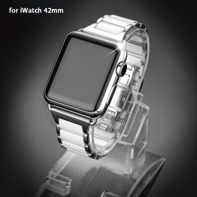Ceramic Solid Strap Watchband for Apple Watch 42mm