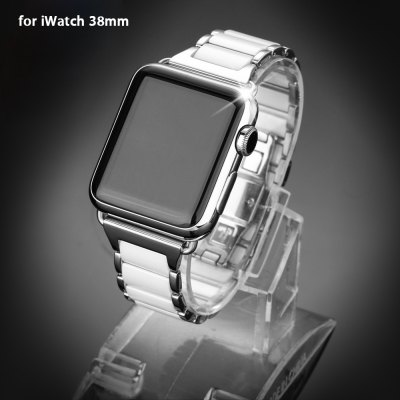 Ceramic Solid Strap Watchband for Apple Watch 38mm