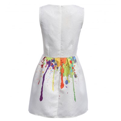 Colorful Print Round Neck Mini Dress for WomenSleeveless Dresses<br>Colorful Print Round Neck Mini Dress for Women<br><br>Material: Polyester<br>Package Contents: 1 x Women Dress<br>Package size: 20.00 x 15.00 x 2.00 cm / 7.87 x 5.91 x 0.79 inches<br>Package weight: 0.2440 kg<br>Size: L,M,S,XL