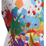 Colorful Print Round Neck Mini Dress for Women for sale
