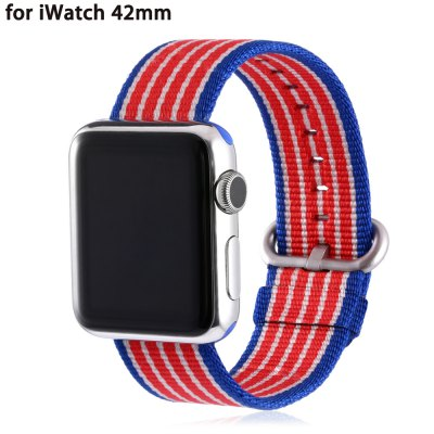 Colorful Strip Pattern Nylon Watchband for Apple Watch 42mm