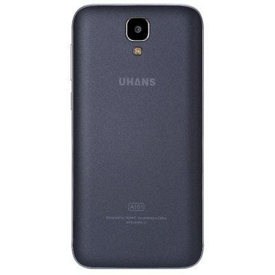 UHANS A101 4G SmartphoneCell Phones<br>UHANS A101 4G Smartphone<br><br>Brand: UHANS<br>Type: 4G Smartphone<br>OS: Android 6.0<br>Service Provide: Unlocked<br>Language: Simplified/Traditional Chinese, Bahasa Indonesia, Bahasa Melayu, Czech, Dansk, German, English (United Kingdom), English (United States), Spanish, French, Hrvatski, Italian, Greek, Hungarian, Polish,<br>SIM Card Slot: Dual SIM,Dual Standby<br>SIM Card Type: Dual Micro SIM Card<br>CPU: MTK6737<br>Cores: 1.3GHz,Quad Core<br>GPU: Mali-T720<br>RAM: 1GB RAM<br>ROM: 8GB<br>External Memory: TF card up to 64GB (not included)<br>Wireless Connectivity: 3G,4G,A-GPS,Bluetooth 4.0,GPS,GSM,WiFi<br>WIFI: 802.11b/g/n wireless internet<br>Network type: FDD-LTE+WCDMA+GSM<br>2G: GSM 850/900/1800/1900MHz<br>3G: WCDMA 900/2100MHz<br>4G: FDD-LTE 800/900/1800/2100/2600MHz<br>Screen type: Capacitive<br>Screen size: 5.0 inch<br>Screen resolution: 1280 x 720 (HD 720)<br>Camera type: Dual cameras (one front one back)<br>Back camera: with flash light<br>Back-camera: 5.0MP (SW 8.0MP)<br>Front camera: 2.0MP (SW 5.0MP)<br>Video recording: Yes<br>Picture format: BMP,GIF,JPEG,PNG<br>Music format: 3GP,AAC,AMR,Mid,MKA,MP2,MP3,OGG,WAV<br>Video format: 3GP,ASF,AVI,F4V,FLV,MKV,MP4<br>Games: Android APK<br>I/O Interface: 2 x Micro SIM Card Slot,3.5mm Audio Out Port,Micro USB Slot,Speaker,TF/Micro SD Card Slot<br>Bluetooth version: V4.0<br>Sensor: Ambient Light Sensor,Gesture Sensor,Gravity Sensor,Proximity Sensor<br>FM radio: Yes<br>Additional Features: 3G,4G,Alarm,Bluetooth,Browser,Calculator,Calendar,GPS,MP3,MP4,People,Wi-Fi<br>Battery Capacity (mAh): 1 x 2450mAh<br>Cell Phone: 1<br>Power Adapter: 1<br>USB Cable: 1<br>Back Case : 1<br>Screen Protector: 1<br>Cleaning Cloth: 1<br>User Manual: 1<br>Product size: 14.35 x 7.12 x 0.95 cm / 5.65 x 2.8 x 0.37 inches<br>Package size: 16.60 x 9.50 x 5.20 cm / 6.54 x 3.74 x 2.05 inches<br>Product weight: 0.119 kg<br>Package weight: 0.377 kg