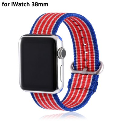 Colorful Strip Pattern Nylon Watchband for Apple Watch 38mm