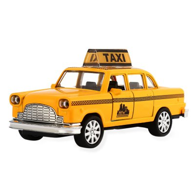 Alloy + Plastic Taxi Style Pullback Car 1 / 32 Vehicle Model