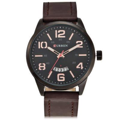 CURREN 8236A Casual Rolling Date Screen Men Quartz WatchMens Watches<br>CURREN 8236A Casual Rolling Date Screen Men Quartz Watch<br><br>Band material: Leather<br>Band size: 25.5 x 2.2 cm / 10.04 x 0.87 inches<br>Brand: Curren<br>Case material: Stainless Steel<br>Clasp type: Pin buckle<br>Dial size: 4.4 x 4.4 x 1 cm / 1.73 x 1.73 x 0.39 inches<br>Display type: Analog<br>Movement type: Quartz watch<br>Package Contents: 1 x CURREN 8236 Casual Men Quartz Watch, 1 x Box<br>Package size (L x W x H): 8.80 x 8.00 x 5.40 cm / 3.46 x 3.15 x 2.13 inches<br>Package weight: 0.126 kg<br>Product size (L x W x H): 25.50 x 4.40 x 1.00 cm / 10.04 x 1.73 x 0.39 inches<br>Product weight: 0.061 kg<br>Shape of the dial: Round<br>Watch color: White, Red, Gold + Black, Gold + Silver<br>Watch style: Casual<br>Watches categories: Male table<br>Water resistance : Life water resistant<br>Wearable length: 18.7 - 23 cm / 7.36 - 9.06 inches