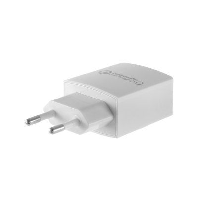 Qualcomm Certification 3.0 Wall Charger Power AdapteriPhone Cables &amp; Adapters<br>Qualcomm Certification 3.0 Wall Charger Power Adapter<br><br>Color: Black,White<br>Input: 100 - 240V, 50 / 60Hz<br>Material ( Cable&amp;Adapter): ABS<br>Output: 5V - 12V<br>Package Contents: 1 x Power Adapter<br>Package size (L x W x H): 10.80 x 8.80 x 4.00 cm / 4.25 x 3.46 x 1.57 inches<br>Package weight: 0.090 kg<br>Plug: EU plug<br>Product size (L x W x H): 8.50 x 3.90 x 2.50 cm / 3.35 x 1.54 x 0.98 inches<br>Product weight: 0.041 kg<br>Type: Adapters