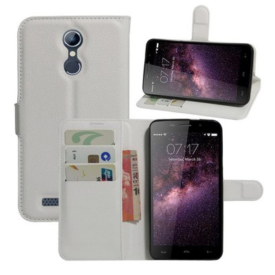 Wallet Style PU Leather Full Body Phone Case Protector for Homtom HT17
