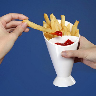 French Fry Cone Dipping Cup 2 in 1 Ice Water MugWater Cup &amp; Bottle<br>French Fry Cone Dipping Cup 2 in 1 Ice Water Mug<br><br>Material: Plastic<br>Package Contents: 1 x French Fry Cone Dipping Cup<br>Package size (L x W x H): 20.00 x 12.00 x 12.00 cm / 7.87 x 4.72 x 4.72 inches<br>Package weight: 0.150 kg<br>Product size (L x W x H): 17.00 x 9.50 x 9.50 cm / 6.69 x 3.74 x 3.74 inches<br>Product weight: 0.090 kg<br>Style: Creative<br>Suitable for: Home, KTV, Party, Others, Bar<br>Type: Water, Fruit Juice, Coffee, Beer, Others