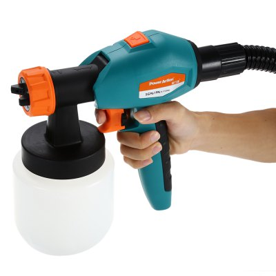 POWERACTION SG9619N 850W Control Spray Paint SprayerPower Drill<br>POWERACTION SG9619N 850W Control Spray Paint Sprayer<br><br>Brand: POWERACTION<br>Model: SG9619N<br>Package Contents: 1 x Sprayer, 1 x Cup, 1 x Hose, 1 x Glasses, 1 x English User Manual<br>Package size (L x W x H): 33.00 x 30.00 x 28.00 cm / 12.99 x 11.81 x 11.02 inches<br>Package weight: 3.050 kg<br>Product weight: 2.410 kg<br>Special Functions : Paint Sprayer