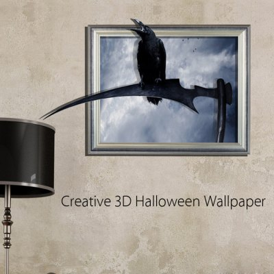 3D Crow Decal Decor Removable Wall Art