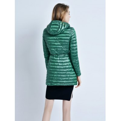 Hooded Middle Down Jacket for WomenJackets &amp; Coats<br>Hooded Middle Down Jacket for Women<br><br>Closure Type: Zipper<br>Clothes Type: Down &amp; Parkas<br>Collar: Hooded<br>Colors: Black,Cadetblue,Green,Violet<br>Embellishment: Others<br>Filling: White Duck Down<br>Materials: Nylon<br>Package Content: 1 x Women Down Jacket<br>Package Dimension: 30.00 x 40.00 x 25.00 cm / 11.81 x 15.75 x 9.84 inches<br>Package weight: 0.350 kg<br>Pattern Type: Others<br>Product weight: 0.310 kg<br>Seasons: Winter<br>Shirt Length: Regular<br>Size1: 2XL,L,M,S,XL<br>Sleeve Length: Full<br>Style: Fashion<br>Thickness: Medium thickness<br>Type: Slim