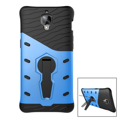 Silicone Protective Back Cover Case for OnePlus 3Cases &amp; Leather<br>Silicone Protective Back Cover Case for OnePlus 3<br><br>Color: Blue<br>Features: Anti-knock, Back Cover, Cases with Stand<br>Material: PC, Silicone<br>Package Contents: 1 x Case<br>Package size (L x W x H): 20.00 x 11.00 x 2.00 cm / 7.87 x 4.33 x 0.79 inches<br>Package weight: 0.073 kg<br>Product Size(L x W x H): 16.00 x 8.00 x 1.00 cm / 6.3 x 3.15 x 0.39 inches<br>Product weight: 0.040 kg<br>Style: Cool, Modern