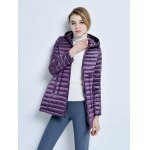 cheap Hooded Middle Down Jacket for Women