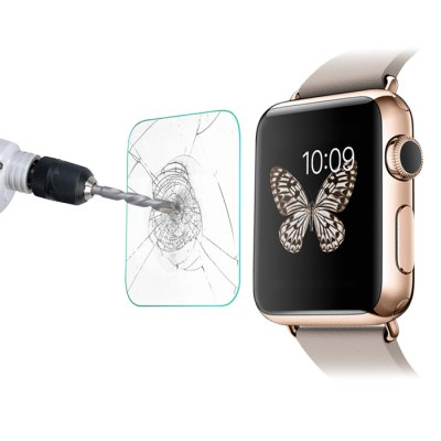 0.26mm Thickness Arc Surfaced Tempered Glass for iWatchWatch Accessories<br>0.26mm Thickness Arc Surfaced Tempered Glass for iWatch<br><br>Available brand: iWatch<br>Color: Transparent<br>Package Contents: 1 x 2.5D Tempered Glass for iWatch, 2 x Guide Sticker, 1 x Dust-absorber, 2 x Cleaning Paper<br>Package size (L x W x H): 10.00 x 6.00 x 2.00 cm / 3.94 x 2.36 x 0.79 inches<br>Package weight: 0.030 kg<br>Product weight: 0.010 kg<br>Type: Smartwatch screen protector
