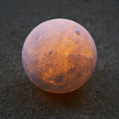 BRELONG Rechargeable 3D Printing LED Moon Lamp