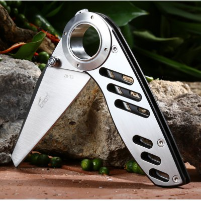 Enlan EL07S Foldable KnifePocket Knives and Folding Knives<br>Enlan EL07S Foldable Knife<br><br>Blade Length: 7.5cm<br>Blade Length Range: 5cm-10cm<br>Blade Material: 8Cr13Mov stainless steel<br>Blade Width : 3cm<br>Brand: Enlan<br>Clip Length: 5.8cm<br>Handle Material: Stainless steel<br>Lock Type: Frame Lock<br>Package Contents: 1 x Enlan EL07S Knife, 1 x Pouch<br>Package size (L x W x H): 15.50 x 7.80 x 4.00 cm / 6.1 x 3.07 x 1.57 inches<br>Package weight: 0.260 kg<br>Product size (L x W x H): 18.60 x 3.50 x 1.20 cm / 7.32 x 1.38 x 0.47 inches<br>Product weight: 0.132 kg<br>Unfold Length: 18.6cm
