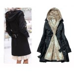 Double Breasted Fur Liner Overcoat for Women deal