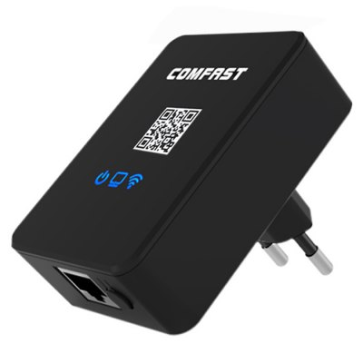 COMFAST WR150N 150Mbps 3 in 1 High Speed Wireless Repeater with WiFi Router AP Mode for Cellphone Computer  -  EU Plug