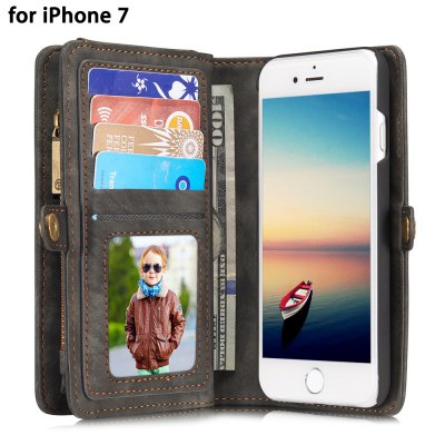 CaseMe Ancient Style PU Leather Wallet Phone Cover Case for iPhone 7