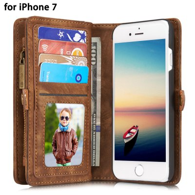 CaseMe PU Leather Wallet Phone Cover Case for iPhone 7