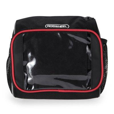 ROSWHEEL 11888 Bike Front BagBike Bags<br>ROSWHEEL 11888 Bike Front Bag<br><br>Brand: Roswheel<br>Color: Black<br>Emplacement: Handlebar<br>For: Unisex<br>Material: PVC, Polyester<br>Model Number: 11888<br>Package Contents: 1 x ROSWHEEL 11888 Bike Front Bag, 1 x Braced Sheeting, 1 x Strap<br>Package Dimension: 24.00 x 12.00 x 23.00 cm / 9.45 x 4.72 x 9.06 inches<br>Package weight: 0.530 kg<br>Product Dimension: 23.00 x 11.00 x 22.00 cm / 9.06 x 4.33 x 8.66 inches<br>Product weight: 0.488 kg<br>Suitable for: Mountain Bicycle, Fixed Gear Bicycle, Cross-Country Cycling, Road Bike, Touring Bicycle
