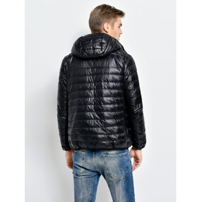 Hooded Down Jacket for MenMens Jackets &amp; Coats<br>Hooded Down Jacket for Men<br><br>Closure Type: Zipper<br>Clothes Type: Down Coat<br>Collar: Hooded<br>Embellishment: Others<br>Filling: White Duck Down<br>Materials: Nylon<br>Package Content: 1 x Men Down Jacket<br>Package Dimension: 40.00 x 30.00 x 10.00 cm / 15.75 x 11.81 x 3.94 inches<br>Package weight: 0.450 kg<br>Pattern Type: Others<br>Product weight: 0.400 kg<br>Seasons: Autumn,Winter<br>Shirt Length: Regular<br>Size1: 2XL,L,M,XL<br>Sleeve Length: Long Sleeves<br>Style: Fashion, Active, Streetwear, Casual<br>Thickness: Medium thickness<br>Type: Slim