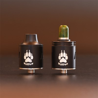 Original VAPJOY WOLFPAW RDARebuildable Atomizers<br>Original VAPJOY WOLFPAW RDA<br><br>Available Color: Black,Red,Silver<br>Material: Stainless Steel<br>Model: WOLFPAW<br>Overall Diameter: 24mm<br>Package Contents: 1 x WOLFPAW RDA, 1 x Delrin Wide Drip Tip, 1 x 510 Std Resin Drip Tip ( Color by Random ), 1 x T Shape Multifunctional Screwdriver, 4 x Coil, 1 x VAPJOY Band ( Color by Random ), 1 x Hollow Center P<br>Package size (L x W x H): 8.00 x 6.50 x 6.00 cm / 3.15 x 2.56 x 2.36 inches<br>Package weight: 0.130 kg<br>Product size (L x W x H): 2.40 x 2.40 x 3.41 cm / 0.94 x 0.94 x 1.34 inches<br>Product weight: 0.047 kg<br>Rebuildable Atomizer: RBA,RDA<br>Thread: 510<br>Type: Rebuildable Drippers, Rebuildable Atomizer