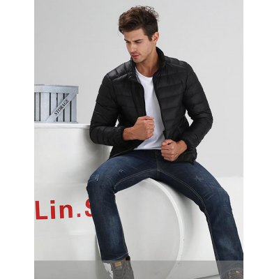 Stand-up Collar Down Jacket for MenMens Jackets &amp; Coats<br>Stand-up Collar Down Jacket for Men<br><br>Closure Type: Zipper<br>Clothes Type: Vest<br>Collar: Stand-Up Collar<br>Embellishment: Others<br>Filling: White Duck Down<br>Materials: Polyester<br>Package Content: 1 x Men Down Coat<br>Package Dimension: 60.00 x 50.00 x 20.00 cm / 23.62 x 19.69 x 7.87 inches<br>Package weight: 0.380 kg<br>Pattern Type: Others<br>Product weight: 0.300 kg<br>Seasons: Autumn,Winter<br>Shirt Length: Regular<br>Size1: 2XL,3XL,L,M,XL<br>Sleeve Length: Sleeveless<br>Style: Fashion, Active, Streetwear, Casual<br>Thickness: Medium thickness<br>Type: Slim
