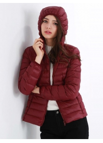 Hooded Short Down Jacket Parka for Women