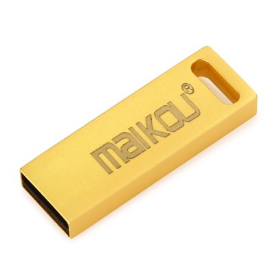 Maikou Portable 32GB USB 2.0 Flash DriveUSB Flash Drives<br>Maikou Portable 32GB USB 2.0 Flash Drive<br><br>Brand: Maikou<br>Capacity: 128G,16G,32G,64G,8G<br>Type: USB Stick<br>Available color: Gold,Silver,Yellow<br>Style: Classic<br>Interface: USB 2.0<br>U Flash Disk Format: FAT32<br>Flash Memory Type: MLC<br>Max. Read Speed: 10MB/s<br>Max. Write Speed: 25MB/s<br>Product weight: 0.005 kg<br>Package weight: 0.040 kg<br>Product size (L x W x H): 3.50 x 1.20 x 0.50 cm / 1.38 x 0.47 x 0.2 inches<br>Package size (L x W x H): 10.50 x 13.20 x 1.50 cm / 4.13 x 5.2 x 0.59 inches<br>Package Contents: 1 x Maikou USB 2.0 Flash Drive