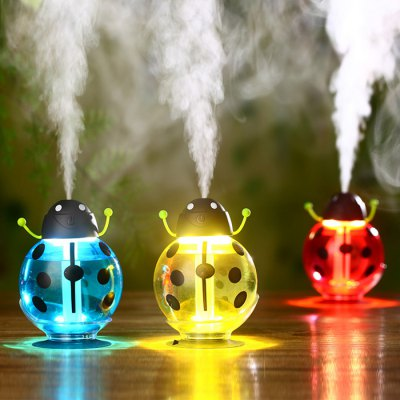 Cartoon Beetle USB Cool Mist HumidifierAir Purifier<br>Cartoon Beetle USB Cool Mist Humidifier<br><br>Type: Practical<br>For: Adults,Kids,Men,Teenagers,Women<br>Material: ABS,Acrylic,PET,Silicone<br>Occasion: Bar,Bathroom,Bedroom,Car,Dining Room,Home,Kitchen Room,KTV,Living Room,Office,School<br>Color: Blue,Red,Yellow<br>Product weight: 0.069 kg<br>Package weight: 0.143 kg<br>Product size (L x W x H): 7.00 x 7.00 x 11.00 cm / 2.76 x 2.76 x 4.33 inches<br>Package size (L x W x H): 8.40 x 8.50 x 12.00 cm / 3.31 x 3.35 x 4.72 inches<br>Package Contents: 1 x Beetle Humidifier, 1 x Sponge Rod, 1 x USB Charging Cable, 1 x Chinese / English User Manual