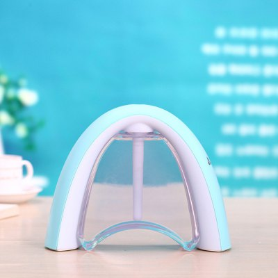 Rainbow Cool Mist HumidifierAir Purifier<br>Rainbow Cool Mist Humidifier<br><br>Color: Black,Blue,Pink<br>For: Adults, Kids, Men, Teenagers, Women<br>Material: ABS, PP<br>Occasion: School, Office, Living Room, KTV, Home, Dining Room, Car, Bedroom, Bathroom, Bar, Kitchen Room<br>Package Contents: 1 x Rainbow Humidifier, 1 x Sponge Rod, 1 x Highlighter, 1 x USB Charging Cable, 1 x Chinese / English User Manual<br>Package size (L x W x H): 21.80 x 7.00 x 16.20 cm / 8.58 x 2.76 x 6.38 inches<br>Package weight: 0.325 kg<br>Product size (L x W x H): 20.80 x 6.00 x 15.00 cm / 8.19 x 2.36 x 5.91 inches<br>Product weight: 0.212 kg<br>Type: Practical