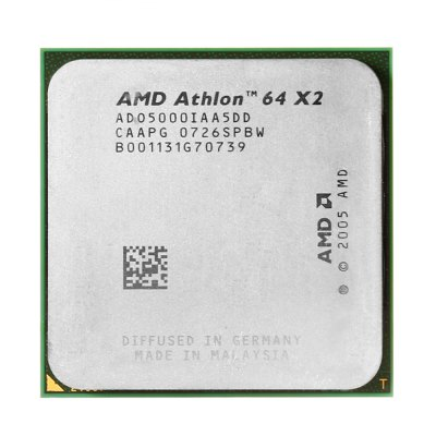 AMD Athlon64 X2 5000+ 1000MHz Socket AM2 CPUCPU<br>AMD Athlon64 X2 5000+ 1000MHz Socket AM2 CPU<br><br>Brand: AMD<br>CPU Frequency: 2.6 GHz<br>Interface Type: Socket AM2<br>Model: 5000+<br>Package size: 6.50 x 5.50 x 1.70 cm / 2.56 x 2.17 x 0.67 inches<br>Package weight: 0.064 kg<br>Packing List: 1 x AMD Athlon64 X2 5000+ CPU<br>Product size: 4.00 x 4.00 x 0.70 cm / 1.57 x 1.57 x 0.28 inches<br>Product weight: 0.040 kg