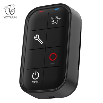 YOTTAFUN Smart WiFi Waterproof Remote ControllerAction Cameras &amp; Sport DV Accessories<br>YOTTAFUN Smart WiFi Waterproof Remote Controller<br><br>Accessory type: Remote Controller<br>Package Contents: 1 x Remote Controller, 1 x English User Manual, 1 x USB Cable, 1 x Strap<br>Package size (L x W x H): 13.00 x 1.00 x 2.30 cm / 5.12 x 0.39 x 0.91 inches<br>Package weight: 0.160 kg<br>Product size (L x W x H): 6.43 x 3.93 x 1.75 cm / 2.53 x 1.55 x 0.69 inches<br>Product weight: 0.050 kg<br>Waterproof: Yes
