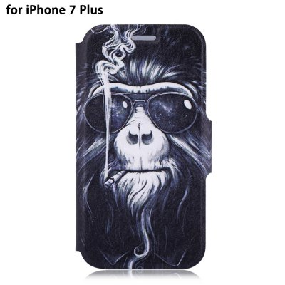 Colored Drawing PU Leather Full Body Protective Phone Case for iPhone 7 Plus