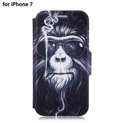 Colored Drawing PU Leather Full Body Protective Phone Case for iPhone 7